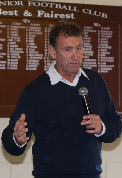 Peter Daicos at Rye Football Club. 10 May 2014.